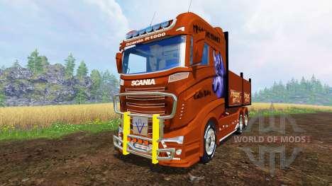 Scania R1000 [flatbed] für Farming Simulator 2015