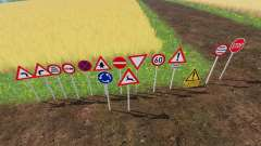 Warning Traffic Signs v1.1 für Farming Simulator 2015