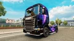 Le Noir et Pourpre de la peau pour Scania camion pour Euro Truck Simulator 2
