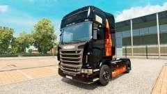 Das Brennen der Haut Frau auf einem Traktor Scania für Euro Truck Simulator 2