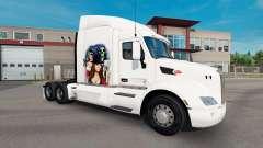 Gangster Girl de la peau pour le camion Peterbilt pour American Truck Simulator