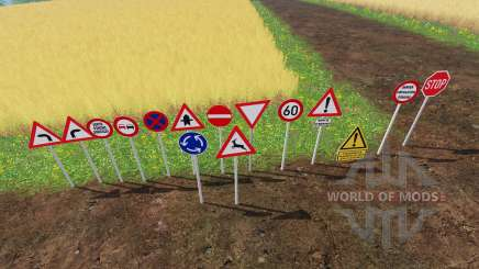 Warning Traffic Signs v1.1 pour Farming Simulator 2015