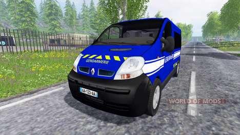 Renault Trafic Gendarmerie pour Farming Simulator 2015
