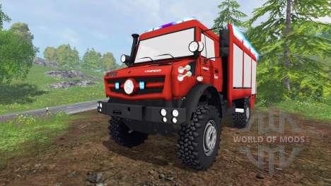 Mercedes-Benz Unimog U5023 [feuerwehr] pour Farming Simulator 2015