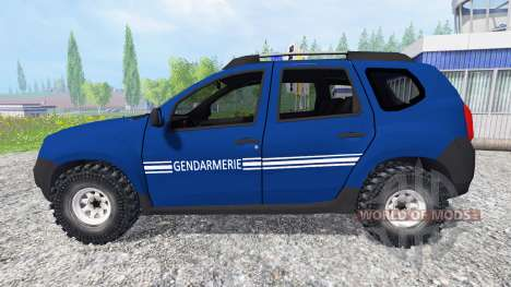 dacia duster gendarmerie f r farming simulator 2015. Black Bedroom Furniture Sets. Home Design Ideas