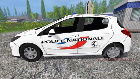 Peugeot 308 [police nationale] pour Farming Simulator 2015