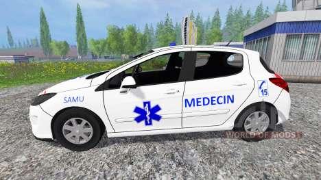 Peugeot 308 [medecin samu] für Farming Simulator 2015