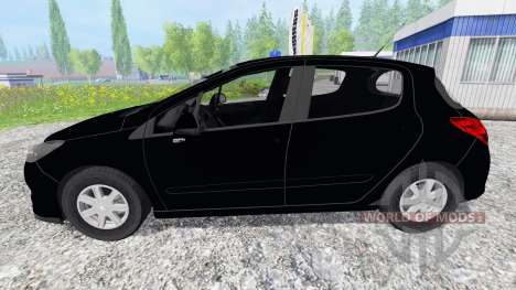 Peugeot 308 [unmarked police] pour Farming Simulator 2015