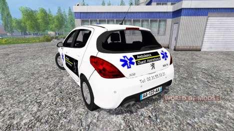 Peugeot 308 Ambulance pour Farming Simulator 2015