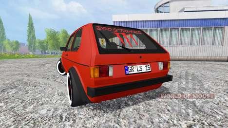 Volkswagen Golf I GTI 1976 pour Farming Simulator 2015