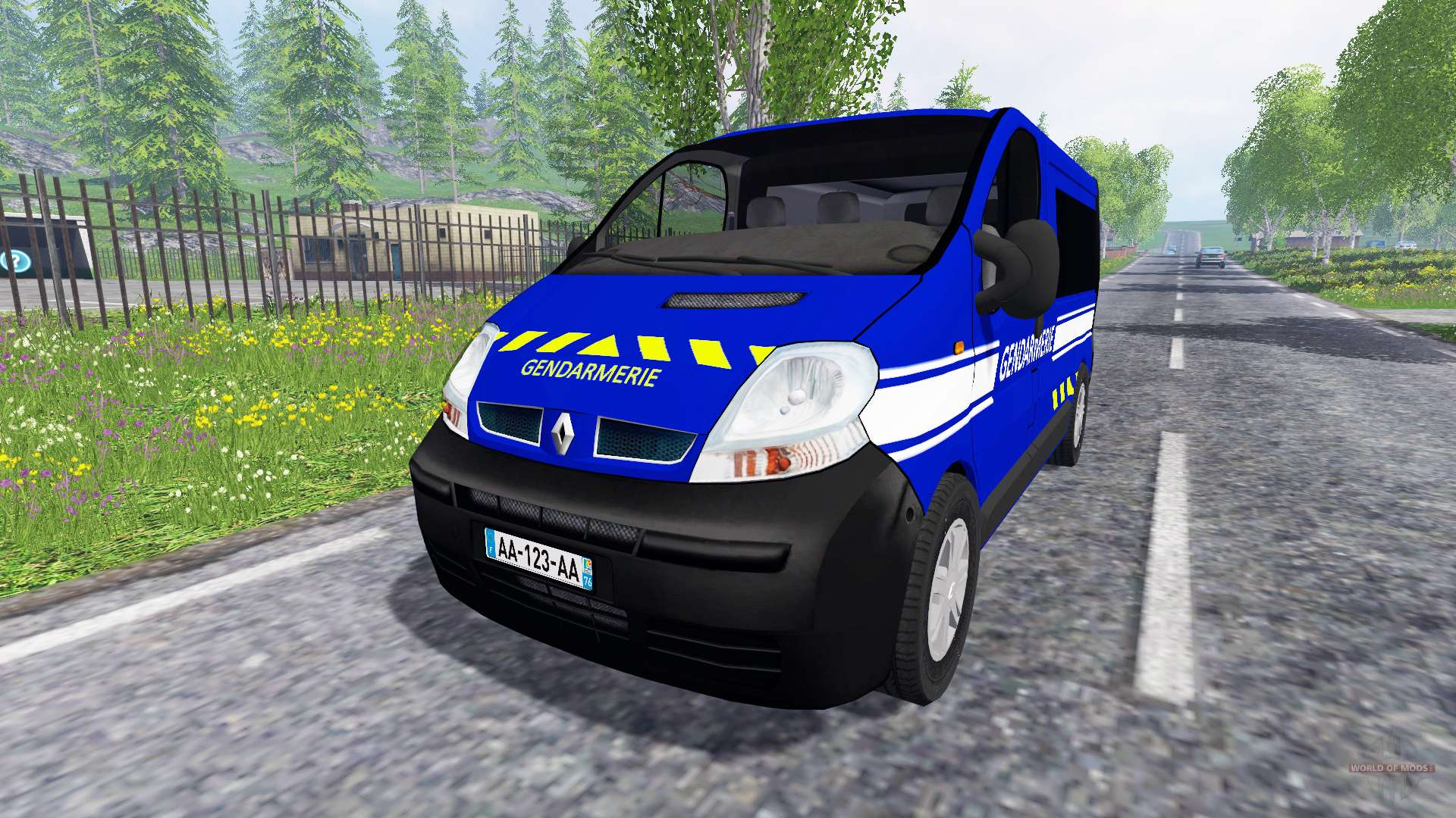 renault trafic gendarmerie pour farming simulator 2015. Black Bedroom Furniture Sets. Home Design Ideas