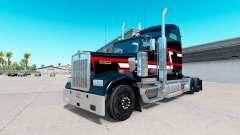 Haut Rot-weißen Streifen auf der LKW-Kenworth W900 für American Truck Simulator