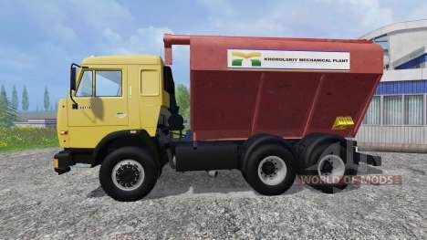KamAZ-54115 Uploader et de semoirs remorque pour Farming Simulator 2015