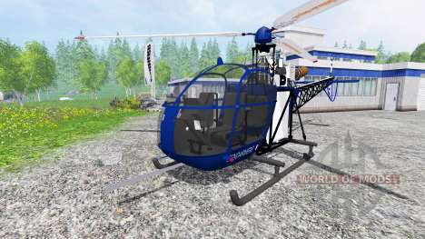Sud-Aviation Alouette II Gendarmerie pour Farming Simulator 2015