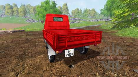 Piaggio Ape P601 UPK pour Farming Simulator 2015