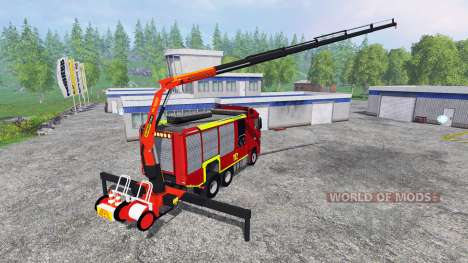 Mercedes-Benz Actros [reuerwehr] pour Farming Simulator 2015