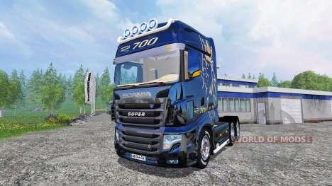 Scania R700 [blue black] für Farming Simulator 2015