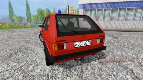 Volkswagen Golf I GTI [feuerwehr] für Farming Simulator 2015
