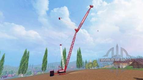 400 tonnes sur chenilles grue pour Farming Simulator 2015