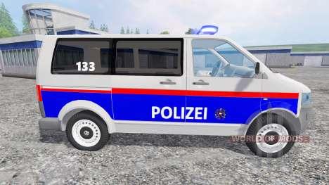 Volkswagen Transporter T5 Police v2.0 für Farming Simulator 2015