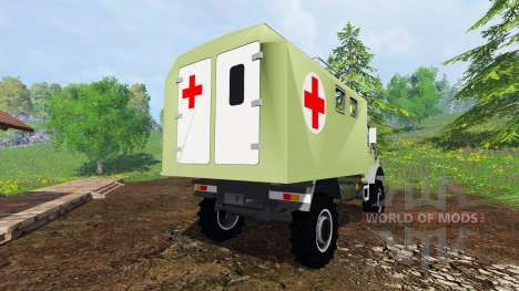 Mercedes-Benz Unimog U2150 (437) Medical v1.1 pour Farming Simulator 2015