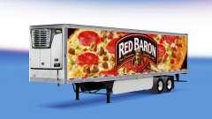 Baron rouge de la peau sur le reefer remorque pour American Truck Simulator
