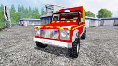Land Rover Defender 110 Pickup sapeurs-pompiers
