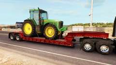 Low sweep mit einer Ladung von Traktoren von John Deere für American Truck Simulator