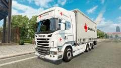Scania R730 Tandem British Red Cross pour Euro Truck Simulator 2