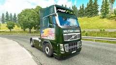 De transport militaire de la peau pour Volvo camion pour Euro Truck Simulator 2