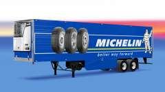 Michelin peau sur le reefer remorque pour American Truck Simulator