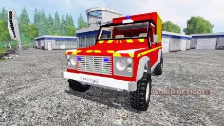 Land Rover Defender 110 Pickup sapeurs-pompiers pour Farming Simulator 2015