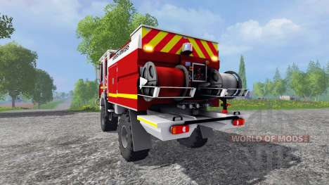 Renault Midlum Crew Cab 4x4 2009 [firetruck] für Farming Simulator 2015