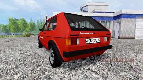 Volkswagen Golf I GTI [feuerwehr] v2.0 pour Farming Simulator 2015