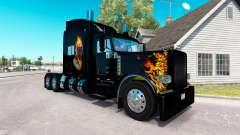 Ghost Rider skin für den truck-Peterbilt 389 für American Truck Simulator