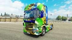 Haut Brasil 2014 für Scania-LKW für Euro Truck Simulator 2