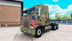 Haut Militärische Mädchen auf einem Traktor Kenworth K100 für American Truck Simulator