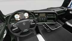 La Ligne noire intérieur Exclusif pour Scania pour Euro Truck Simulator 2