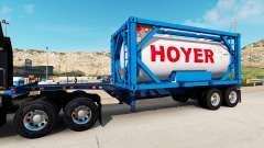 La semi-remorque-le conteneur de camion avec des conteneurs-citernes pour American Truck Simulator
