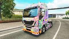 La peau Psychédélique sur le camion Iveco pour Euro Truck Simulator 2