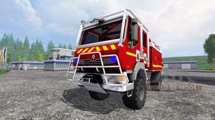 Renault Midlum Crew Cab 4x4 2009 [firetruck] pour Farming Simulator 2015