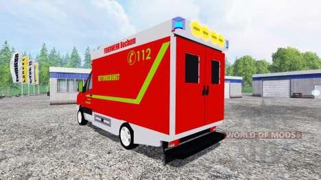 Volkswagen Crafter Feuerwehr Bochum für Farming Simulator 2015