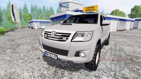 Toyota Hilux [convoi agricole] v2.0 pour Farming Simulator 2015