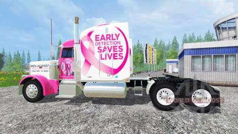 Peterbilt 388 [breast cancer] pour Farming Simulator 2015