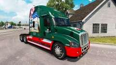 Скин INTERSTATE 80 Jahr на Freightliner Cascadia für American Truck Simulator
