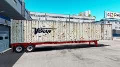 Semitrailer container Vitran pour American Truck Simulator