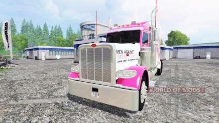 Peterbilt 388 [breast cancer] für Farming Simulator 2015
