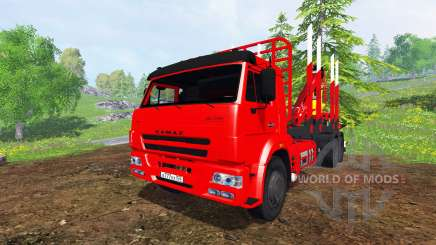 KamAZ-65117 6x4 [bois] pour Farming Simulator 2015