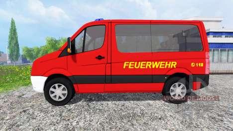 Volkswagen Crafter Feuerwehr pour Farming Simulator 2015