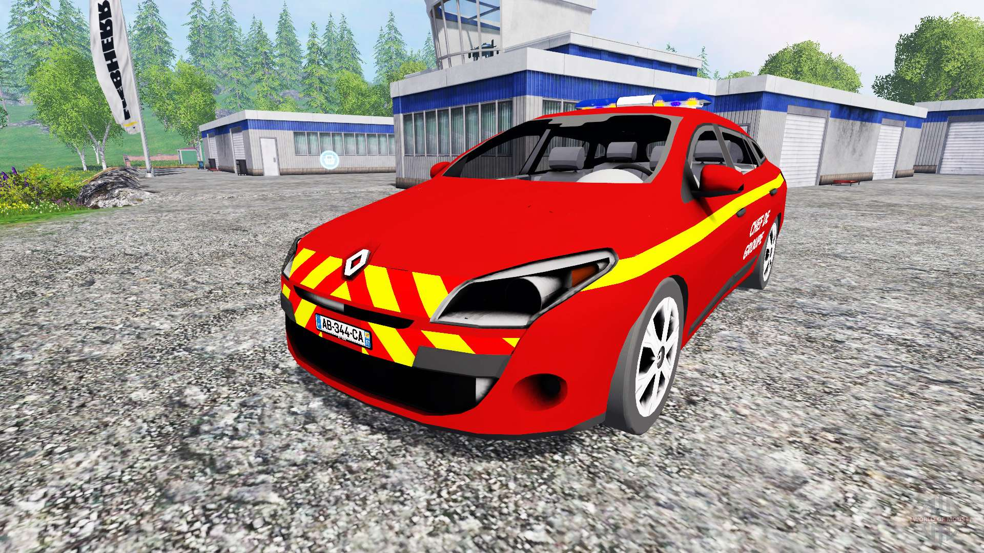 renault megane estate feuerwehr pour farming simulator 2015. Black Bedroom Furniture Sets. Home Design Ideas